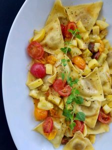 Butternut Squash Triangoli Tomato and Yellow Squash Butter