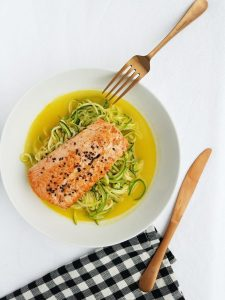 Sesame Salmon with Zoodles