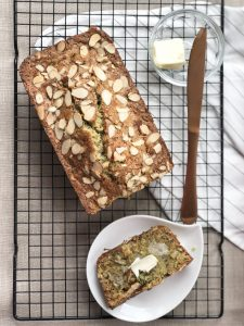 Zucchini Bread with Chia Seeds and Almonds