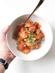Cauliflower Gnocchi with Marinara Sauce