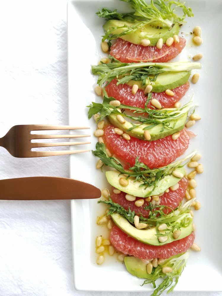 Avocado Grapefruit and Frisee Salad
