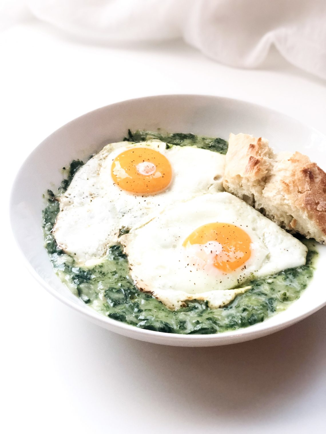 Creamed Spinach with Eggs