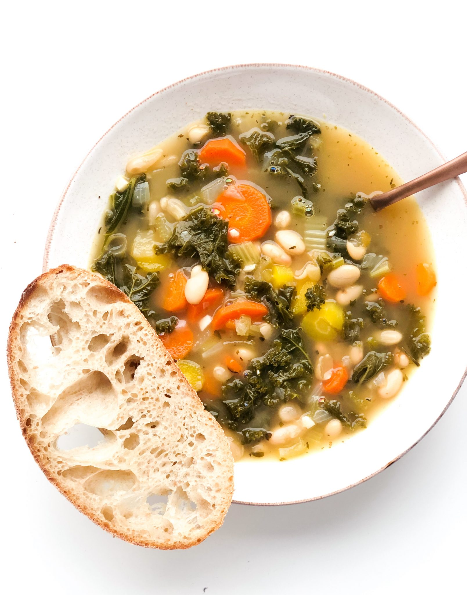 Kale Soup wit Bacon and Parmesan Cheese